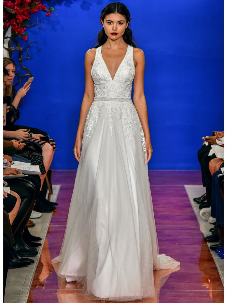 theia wedding dress floral ball gown