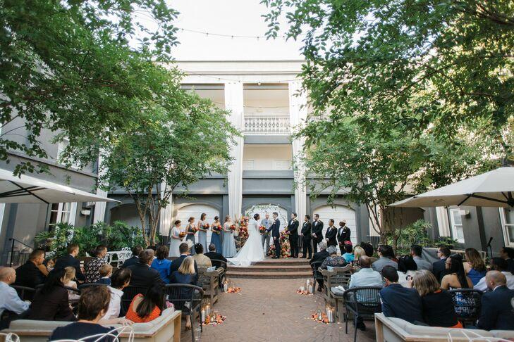 Wedding Ceremony at the Kimpton Brice Hotel in Savannah, Georgia