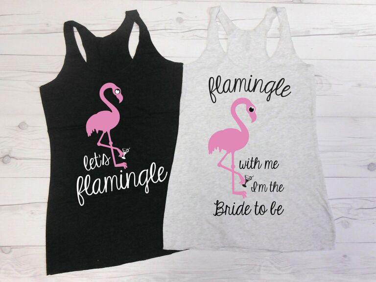 flamingo bachelorette party tank tops