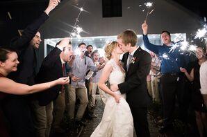 Sparkler Exit from Oskaloosa, Kansas Barn Wedding