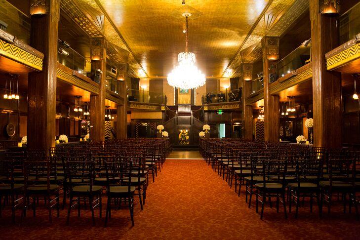 Elegant Ceremony Space at Cicada Restaurant