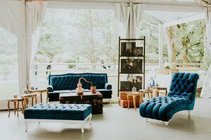 Navy Blue Tufted Lounge Furniture