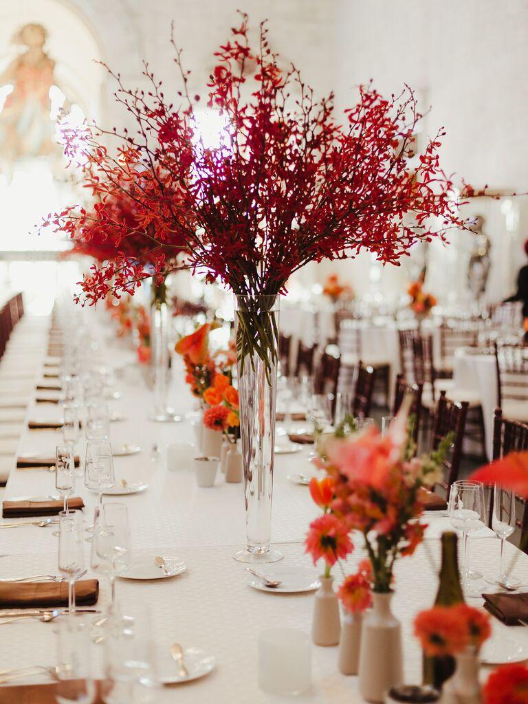 Fall wedding ideas bold centerpiece