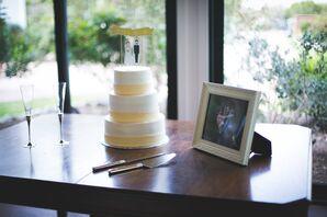 Vegan Lemon Wedding Cake with Lemon Icing