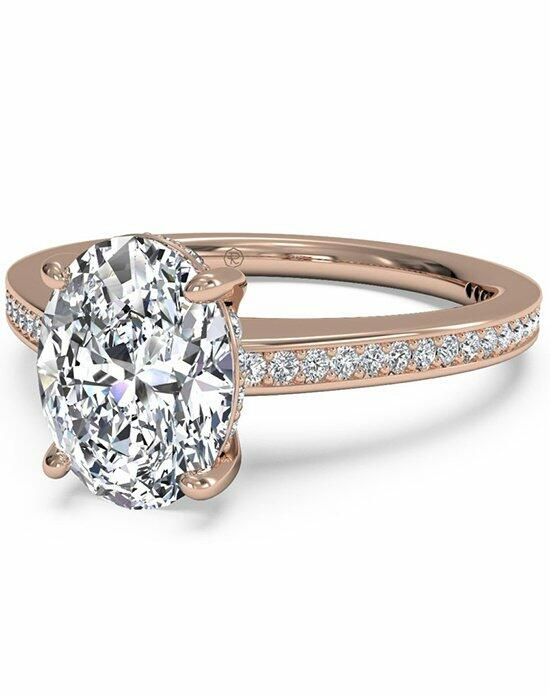 Ritani Oval Cut Diamond Micropave Band Engagement Ring in 18kt Rose Gold (0.20 CTW) Engagement Ring photo