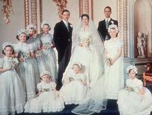Princess Margaret family wedding photo.