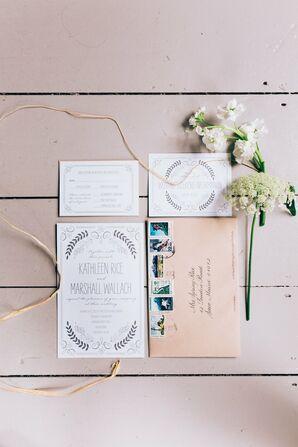 Charming Vintage-Inspired Wedding Invitations