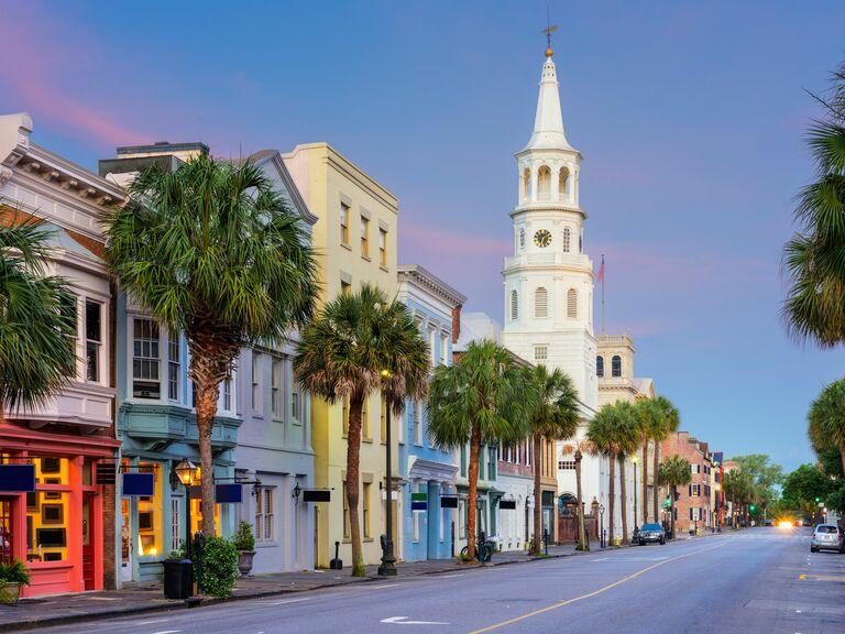 Quiet street in Charleston
