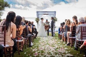 Aisle Shot of Outdoor Wedding Ceremony