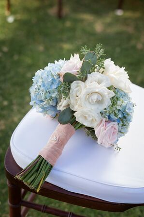 Blue, Ivory and Pink Bouquet