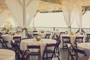 Simple Dining Tables at Patio Reception
