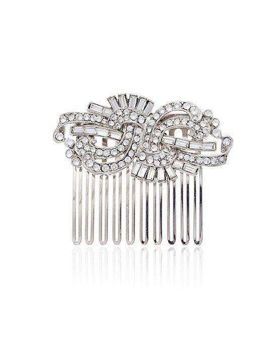 Thomas Laine Crystal Deco Swirl Hair Comb Wedding Pins, Combs + Clips photo