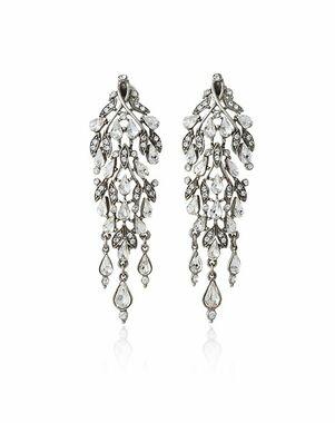 Thomas Laine Ben-Amun Waterfall Chandelier Earring Wedding Earring photo