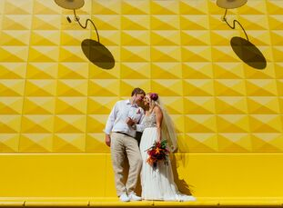 Kristi Carr (29 and a senior imaging specialist) and Jason Carranza (30 and a senior analyst) chose Denver to tie the knot largely because they met an