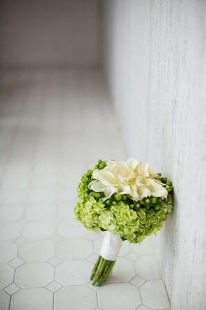Hypericum, Calla Lily and Hydrangea Bouquet