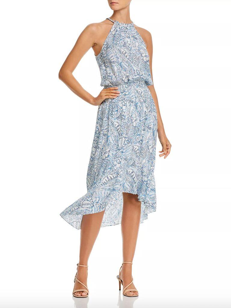 Kyra floral silk midi dress