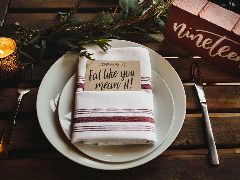 Thanksgiving wedding menu ideas