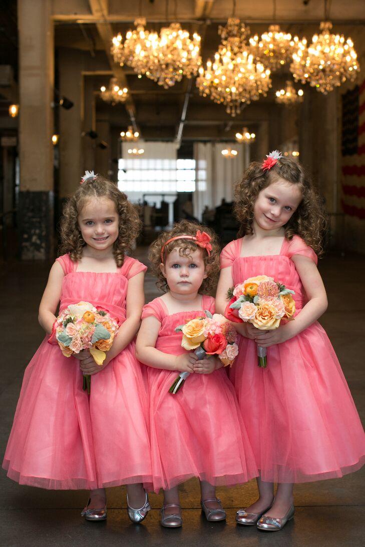 Pink Coral Flower Girl Dresses