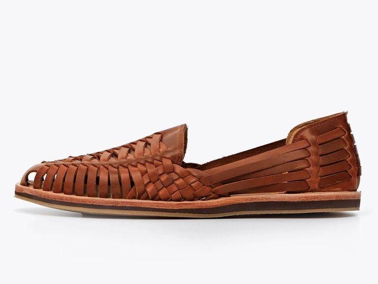 Huarache men's beach wedding shoes