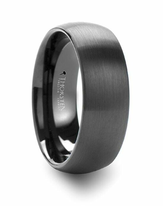 Larson Jewelers RAIDER Domed Brush Finished Black Tungsten Wedding Band - 4mm - 12mm Wedding Ring photo