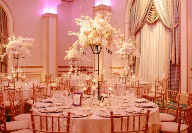 Hanging glass globe wedding decor: The Wedding Central HD Video and Photography / TheKnot.com