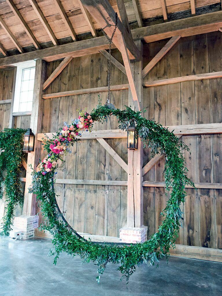 Whimsical swing idea for wedding decor