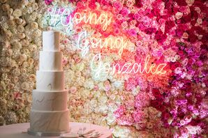 Glamorous Floral Wall at The Joule Hotel in Dallas, Texas