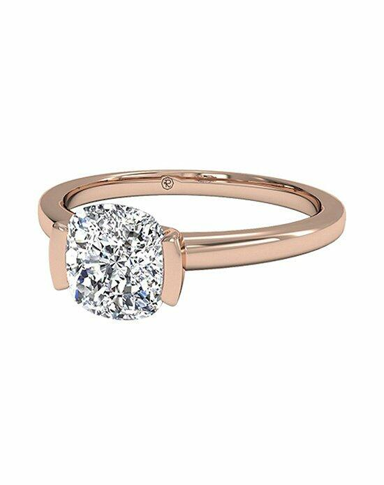 Ritani Cushion Cut Solitaire Semi-Bezel-Set Diamond Engagement Ring in 18kt Rose Gold Engagement Ring photo