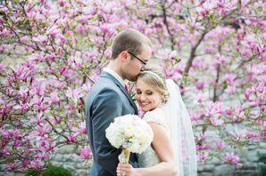 Spring Wedding Portrait in Carmel, Indiana
