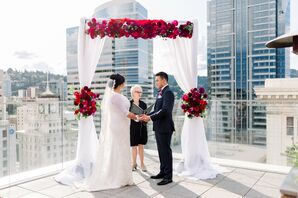 Modern Rooftop Ceremony at The Nines Hotel in Portland, Oregon