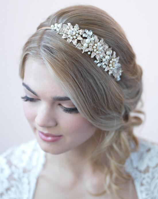 USABride Naomi Gold Leaf & Pearl Headband Wedding Headbands photo