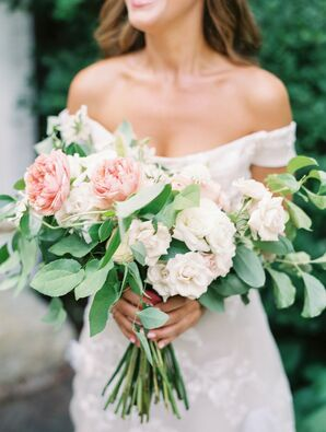 The Bride Carried Peonies, Roses, Scabiosa and Greenery