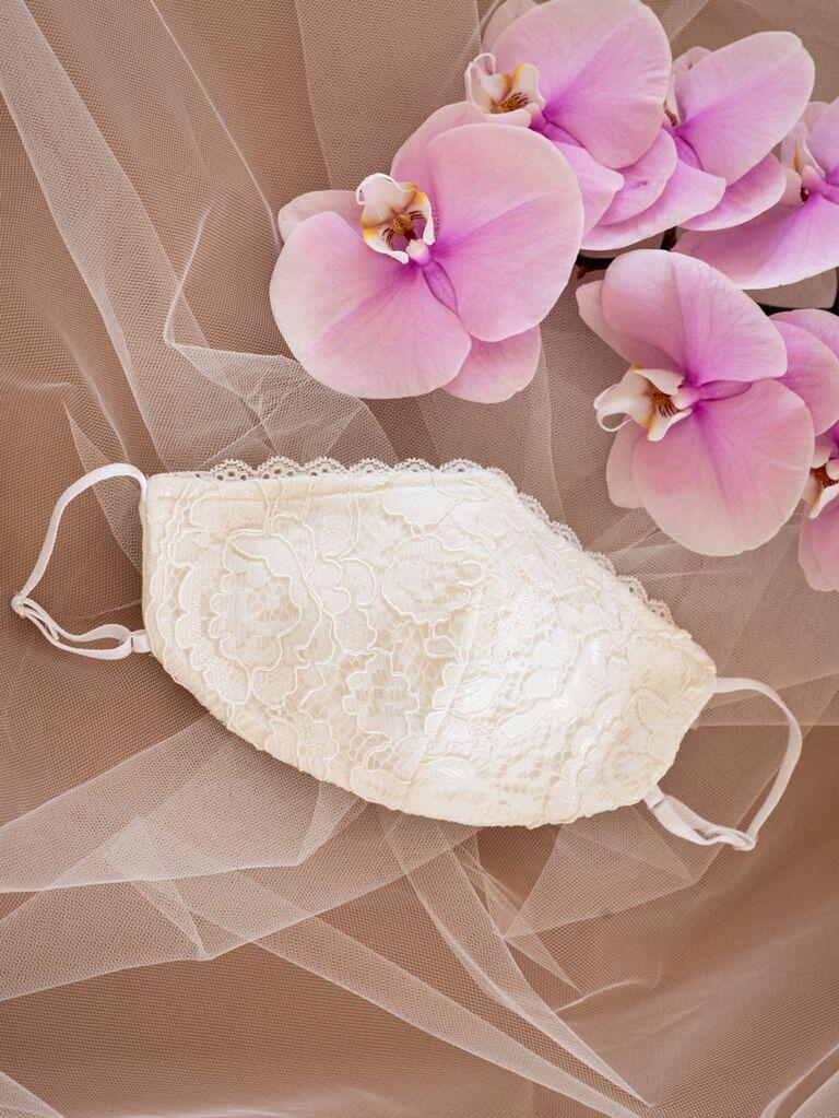 Lace wedding face mask