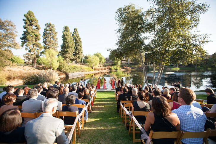 The ceremony took place at The Pacific Club in Newport Beach, California right near the waterfront.