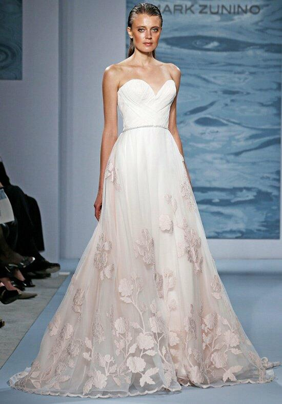 Mark zunino for kleinfeld wedding dresses for Flower embroidered wedding dress