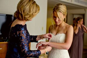 Bride Getting Ready Before the Ceremony