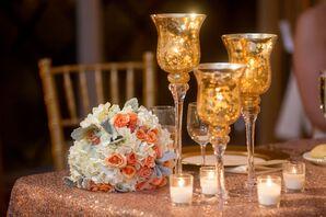 Mercury Glass Votive Candles