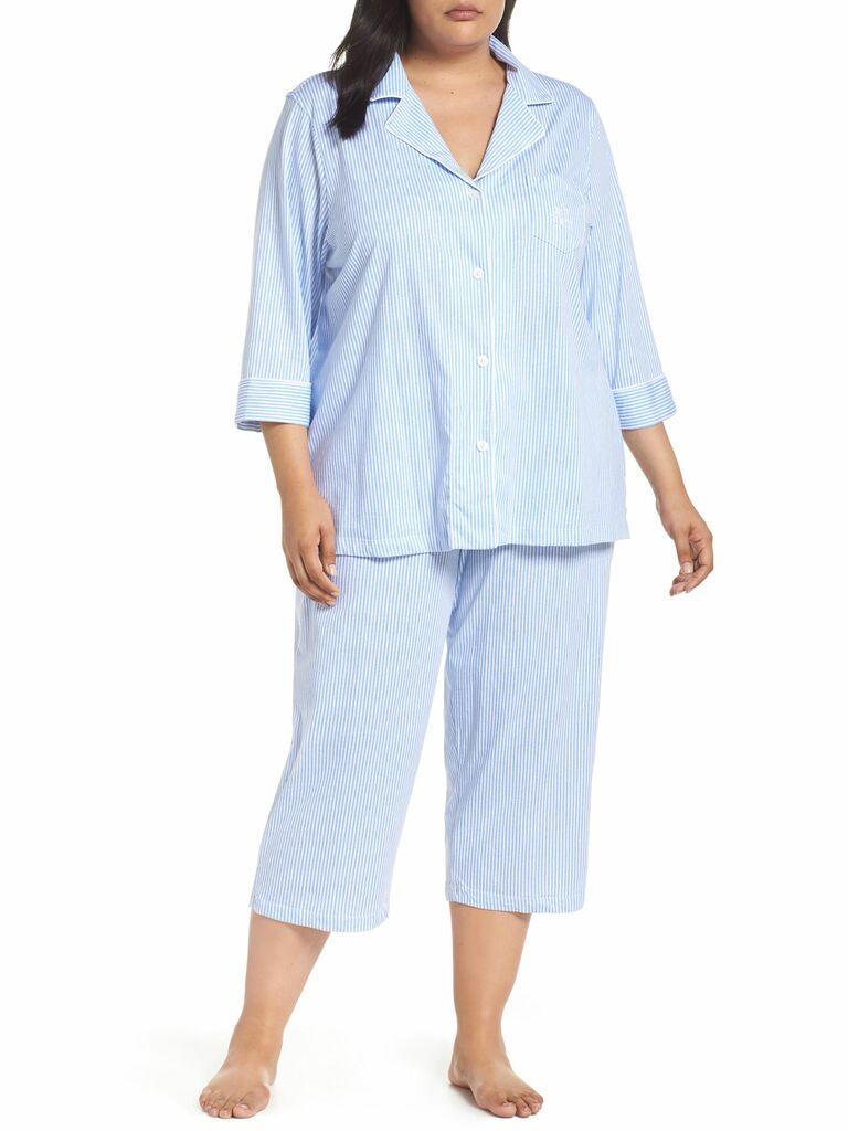 striped bridesmaid pajamas
