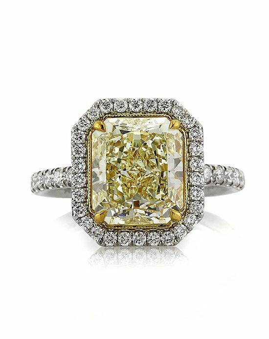 Mark Broumand 4.62ct Fancy Light Yellow Radiant Cut Diamond Engagement Ring Engagement Ring photo