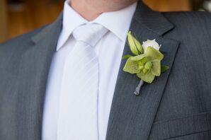 Sleek Green Orchid Boutonniere