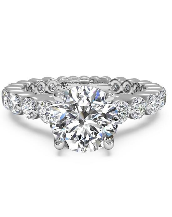 Ritani Shared-Prong Diamond Band Engagement Ring - in 14kt White Gold (0.70 CTW) Engagement Ring photo