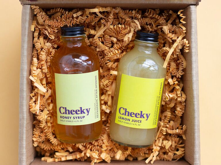 cheeky cocktails gold rush cocktail kit for bachelor party favors