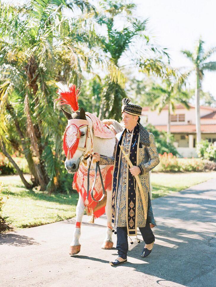 Baraat Entrance with Horse at Regal Miami, Florida, Wedding