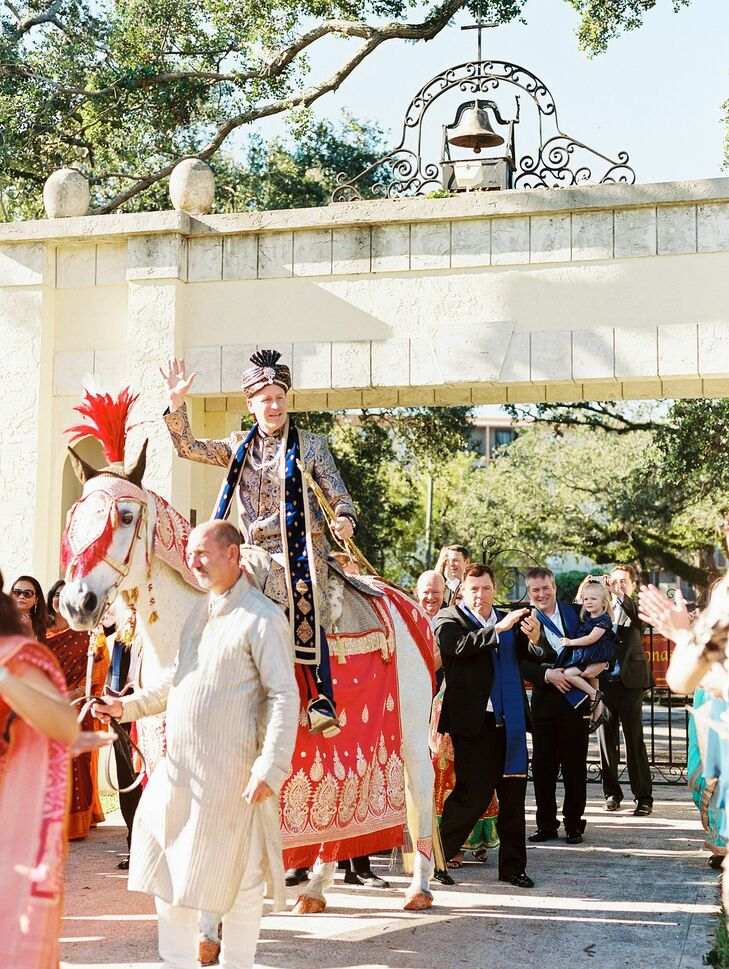 Baraat with Horse at Regal Miami, Florida, Wedding