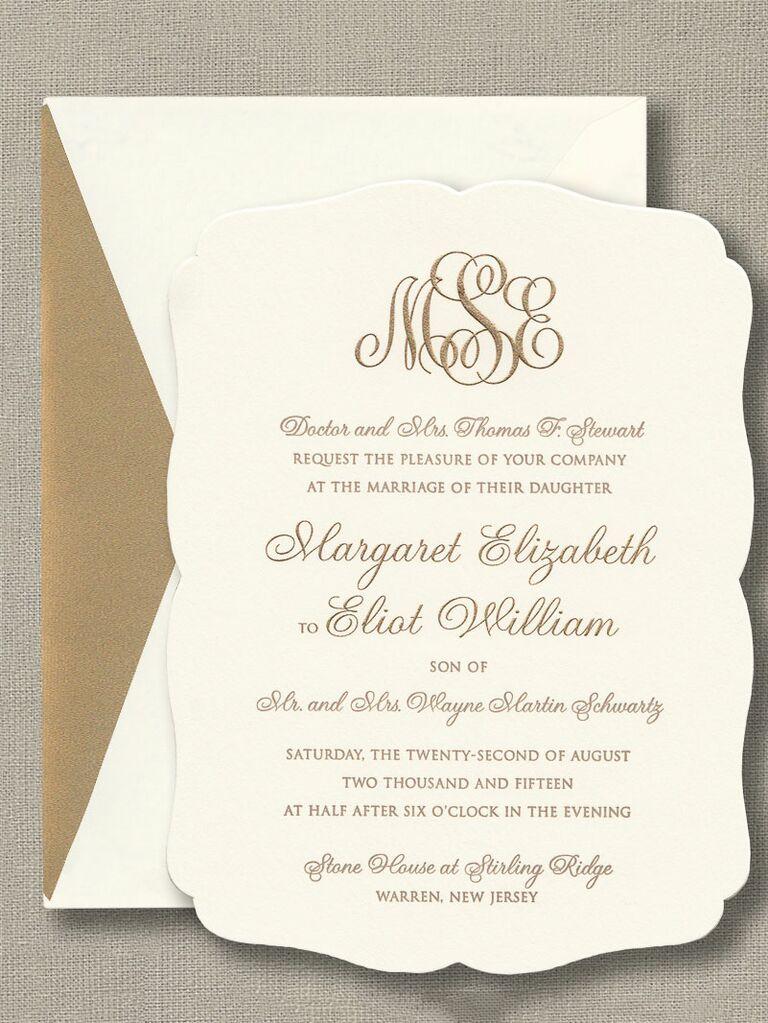 engraved invitations
