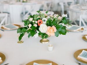 Centerpiece of Greenery, Hellebore, Anemone and Baby's Breath