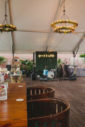 Eclectic Tented Reception on Rooftop at The Line Hotel in Washington, DC