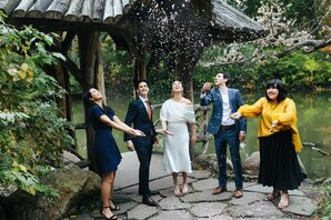 Confetti Toss During Elopement at Central Park