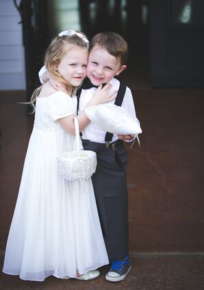 Flower Girl and Ring Bearer at Texas Spring Wedding