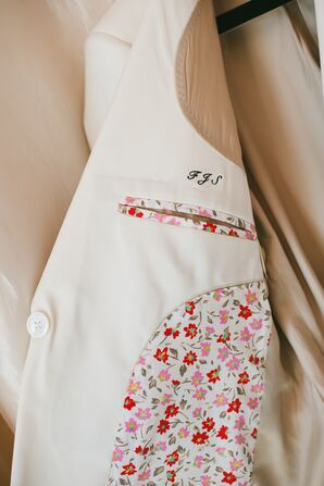 Monogrammed and Personalized White Tuxedo